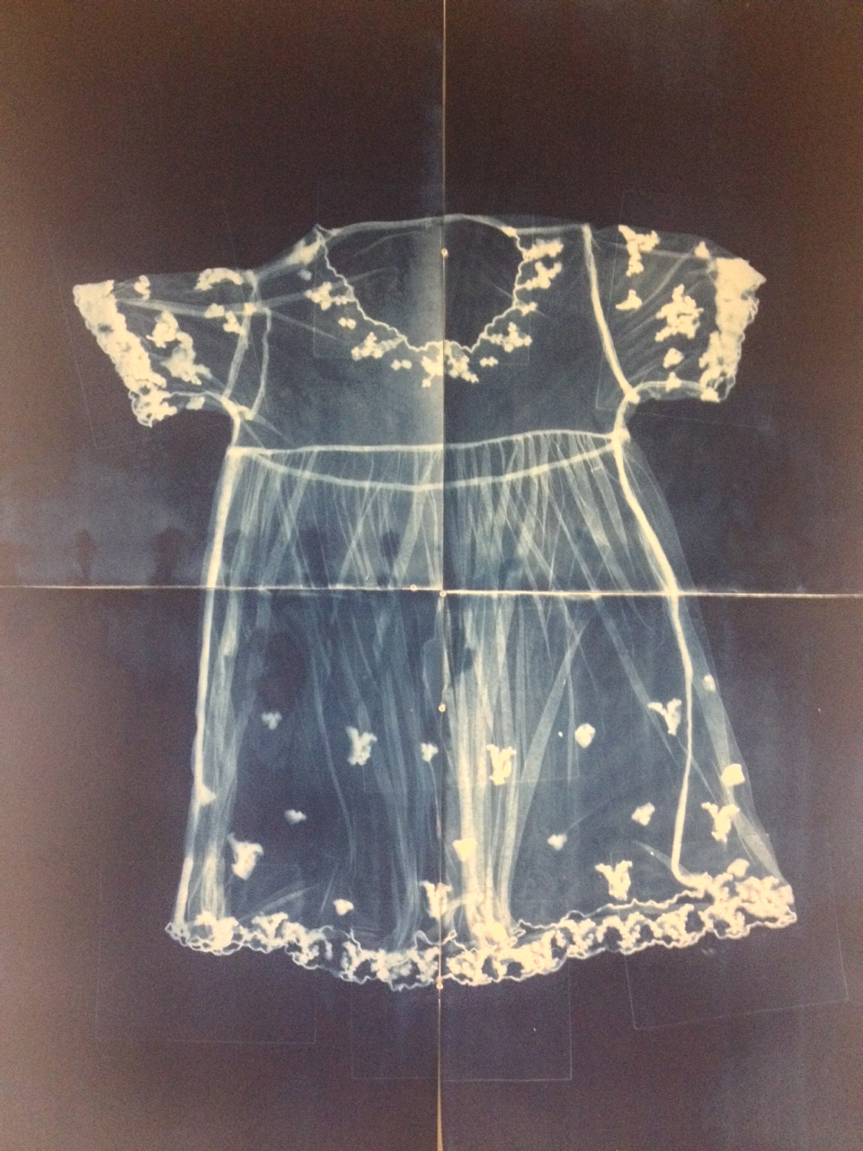 Mothers Dress (Four Parts) by J Gray Swartzel - Cyanotype - 44 x 60 - framed: 2014