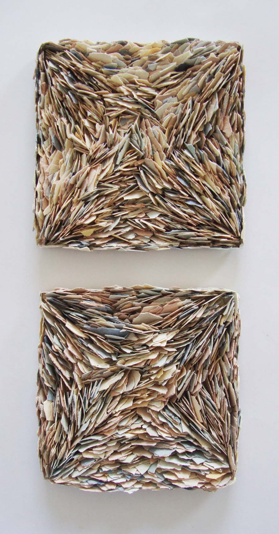 Jessica Dupuis - 2 - ceramic and gift box - 3.75 x 3.75 x .5 inches each 150.00