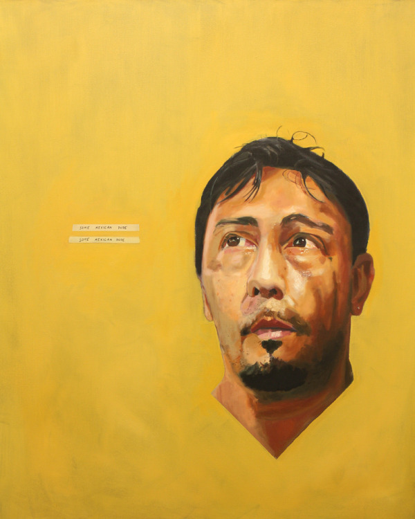 Some Mexican Dude by William Paul Thomas - Oil on canvas - 48 x 60 - 2013 *Purchase of this work includes a studio visit with Will 800.00
