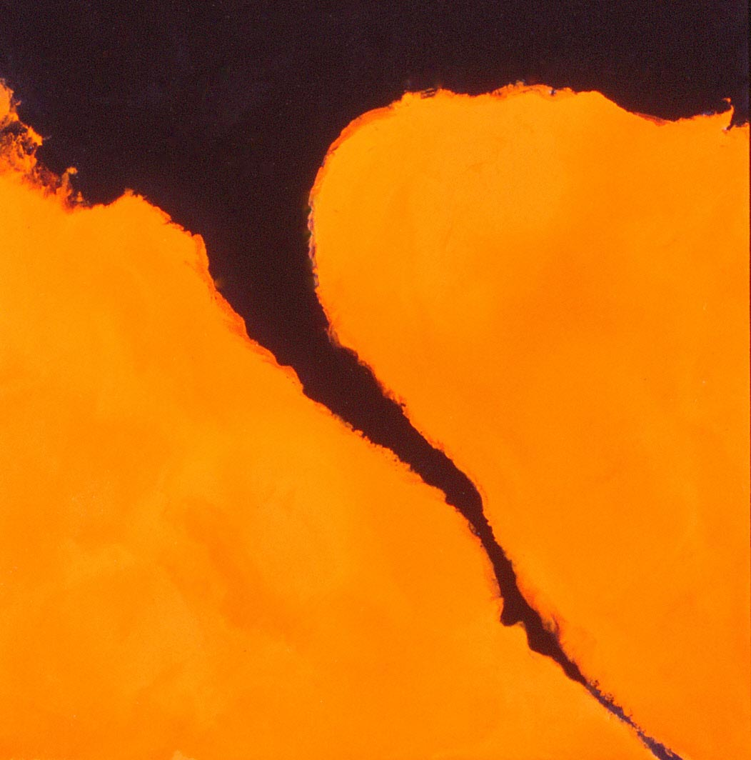 Martha Petty - Tornado # 38 - encaustic on paper on panel - 14 x 14 - framed 300.00